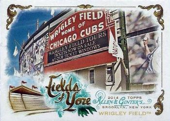 2014 Topps Allen & Ginter - Fields of Yore #FOY-05 Wrigley Field Front