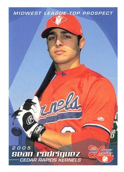 2005 Grandstand Midwest League Top Prospects #NNO Sean Rodriguez Front