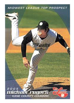 2005 Grandstand Midwest League Top Prospects #NNO Michael Rogers Front