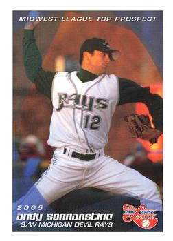 2005 Grandstand Midwest League Top Prospects #NNO Andy Sonnanstine Front