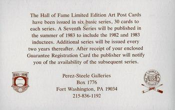 1980-01 Perez-Steele Hall of Fame Series 1-15 #NNO Sixth Series Checklist Back
