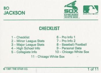 1991 Star Bo Jackson Baseball Gallery The Trading Card Database