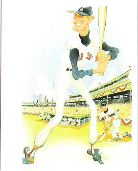 1985 Baseball Greats Caricatures #1 Ted Williams Front