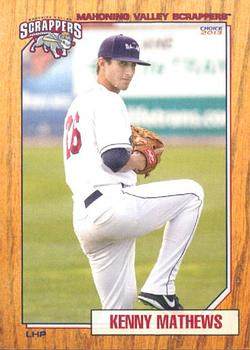 2013 Choice Mahoning Valley Scrappers #20 Kenny Mathews Front