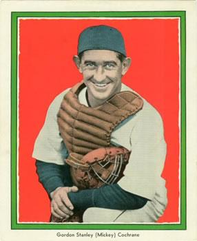 1935 Detroit Free Press Tigers (M120) #6 Mickey Cochrane Front