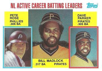 1984 topps 701 nl active career batting leaders   bill