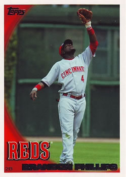 2010 Topps #165a Brandon Phillips Front