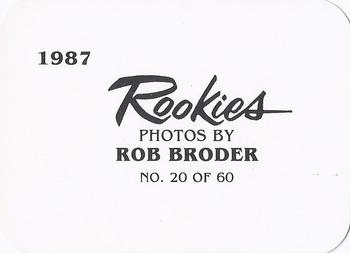 1987 Broder Rookies (unlicensed) #20 Mike Greenwell Back