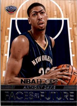 2014-15 Hoops - Faces of the Future #1 Anthony Davis Front