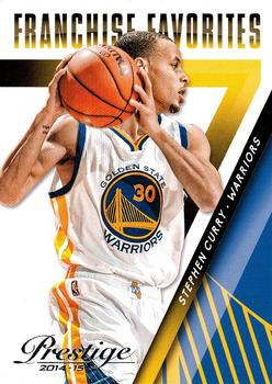 2014-15 Panini Prestige - Franchise Favorites #10 Stephen Curry Front