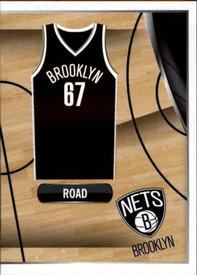 2014-15 Panini Stickers #19 Nets Road Jersey Front
