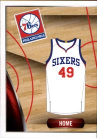 2014-15 Panini Stickers #44 76ers Home Jersey Front