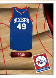2014-15 Panini Stickers #45 76ers Road Jersey Front