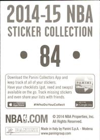 2014-15 Panini Stickers #84 Cavaliers Road Jersey Back
