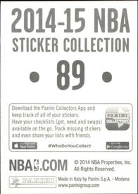 2014-15 Panini Stickers #89 Cleveland Cavaliers Logo Back
