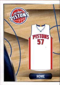 2014-15 Panini Stickers #96 Pistons Home Jersey Front