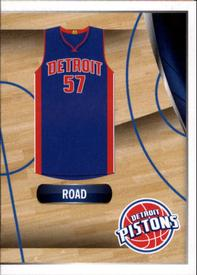 2014-15 Panini Stickers #97 Pistons Road Jersey Front