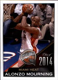 2014-15 Panini Stickers #450 Alonzo Mourning Front