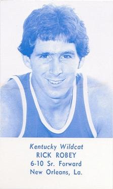 1977-78 Kentucky Wildcats Schedules #NNO Rick Robey Front