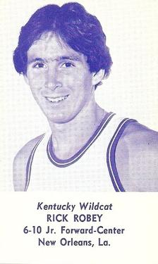 1976-77 Kentucky Wildcats Schedules #NNO Rick Robey Front