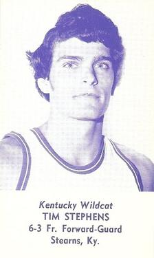 1976-77 Kentucky Wildcats Schedules #NNO Tim Stephens Front