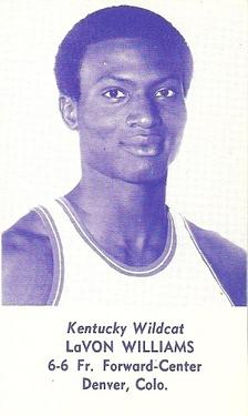 1976-77 Kentucky Wildcats Schedules #NNO LaVon Williams Front