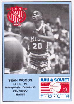 1988 Kentucky AAU Soviets #18 Sean Woods Front
