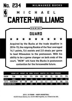 2015-16 Hoops - Green #234 Michael Carter-Williams Back