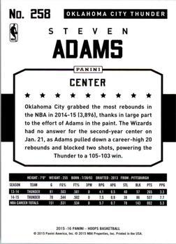 2015-16 Hoops - Green #258 Steven Adams Back