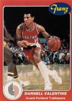 1984 85 Star Franz Portland Trail Blazers #12 Darnell Valentine