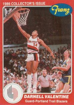 1985 86 Star Franz Portland Trail Blazers #12 Darnell Valentine