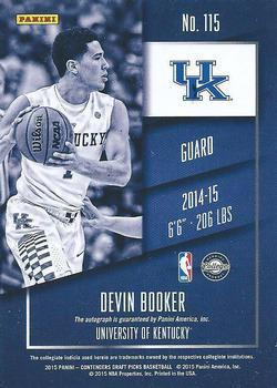 c7133a04e4e 2015 Panini Contenders Draft Picks - Season Ticket Cracked Ice #115a Devin  Booker Back