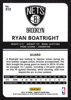 2015-16 Panini Complete #313 Ryan Boatright Back