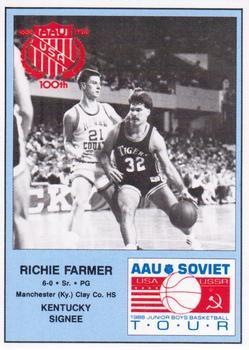 1988 Kentucky AAU Soviets - Perforated #8 Richie Farmer Front