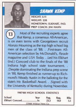 1988 Kentucky AAU Soviets - Perforated #13 Shawn Kemp Back
