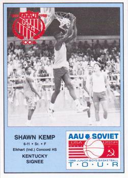 1988 Kentucky AAU Soviets - Perforated #13 Shawn Kemp Front