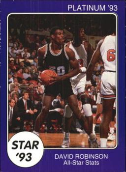 1993 Star Platinum #68 David Robinson Front
