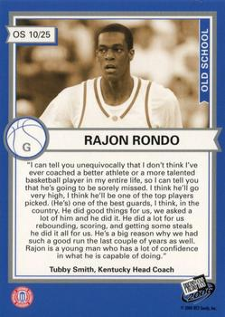 2006 Press Pass - Old School Collectors Series #OS10 Rajon Rondo Back
