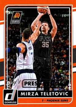 2015-16 Donruss - Press Proof Black #112 Mirza Teletovic Front