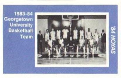 1983 84 Georgetown Hoyas Police 2 Team