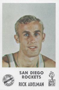 1968-69 Jack in the Box San Diego Rockets #1 Rick Adelman Front