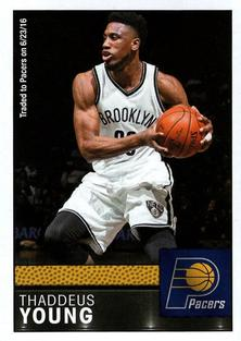 2016-17 Panini Stickers #114 Thaddeus Young Front