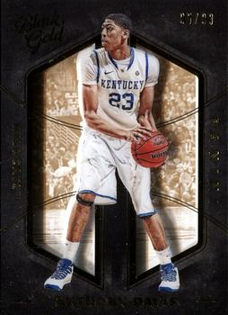 2016-17 Panini Black Gold Collegiate #11 Anthony Davis Front