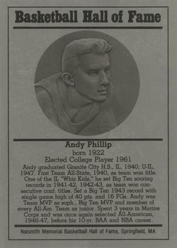 1986-02 Basketball Hall of Fame Metallic #NNO Andy Phillip Front