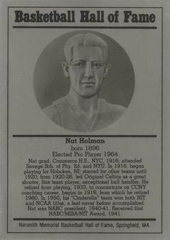 1986-02 Basketball Hall of Fame Metallic #NNO Nat Holman Front