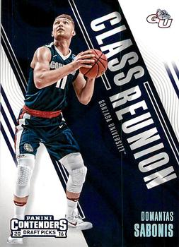 2016 Panini Contenders Draft Picks - Class Reunion #16 Domantas Sabonis Front
