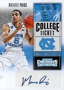 2016 Panini Contenders Draft Picks - College Ticket Autographs #141 Marcus Paige Front