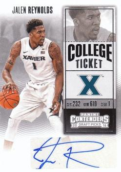 2016 Panini Contenders Draft Picks - College Ticket Autographs #142 Jalen Reynolds Front