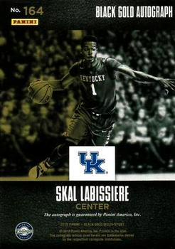 2016-17 Panini Black Gold Collegiate - Black Gold Autographs SN25 #164 Skal Labissiere Back