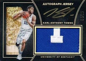 2016-17 Panini Black Gold Collegiate - Autograph Jersey SN25 #59 Karl-Anthony Towns Front